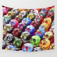 dia de los muertos Wall Tapestries featuring Dia de los Muertos by Evolvedphotoco