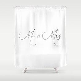Just Married 'Duvet Queen's Mr and Mrs Designer Wedding gift Duvet Cover Shower Curtain