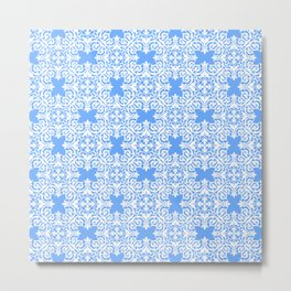 Sky Blue Lace Metal Print