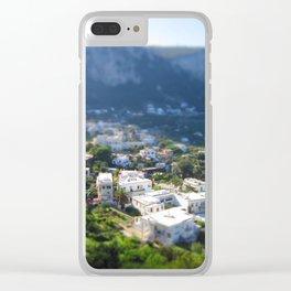 Capri in Minature Clear iPhone Case