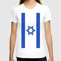 israel T-shirts featuring Flag of Israel by Neville Hawkins