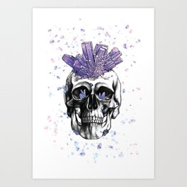 Crystal Skull by Andrea Cain Art Print