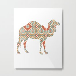 CAMEL SILHOUETTE WITH PATTERN Metal Print