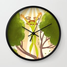 Summer Sprite Wall Clock