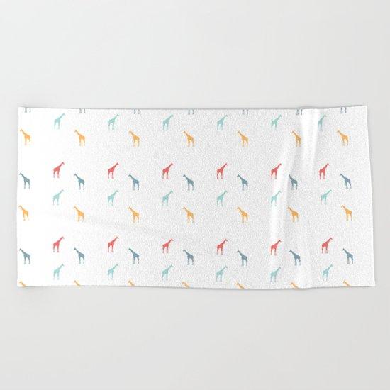 Giraffe Pattern Beach Towel