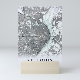 St Louis MO USA White City Map Mini Art Print