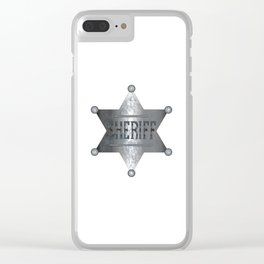 Sheriff Badge Clear iPhone Case