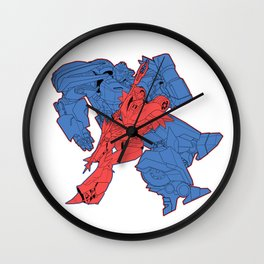 Racers are Red, Bruisers are Blue Wall Clock