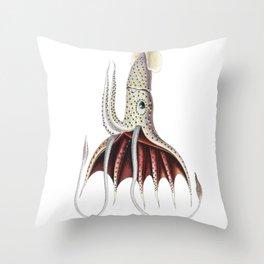 Umbrella Squid Throw Pillow