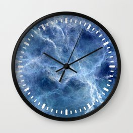 Blue storm Wall Clock
