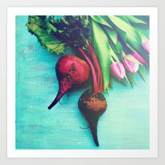 The Beet Goes On - Red Beet Art Print