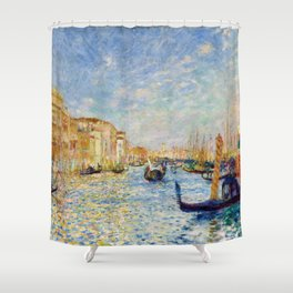 "Auguste Renoir ""Grand Canal, Venice"" Shower Curtain"
