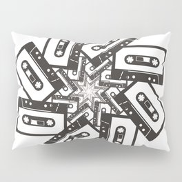 Mix Tape Whirl Pillow Sham