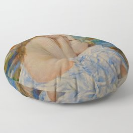 "Auguste Renoir ""Seated bather"" Floor Pillow"