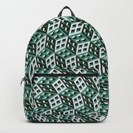 Abstract twisted cubes Backpack