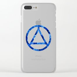 Sapphire Candy Gem Clear iPhone Case