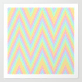 Summer Chevron Stripes Pattern  Art Print