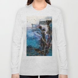Midnight Sky, Acrylic artwork Long Sleeve T-shirt