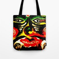 inner demons Tote Bags featuring Demons by Akinawa