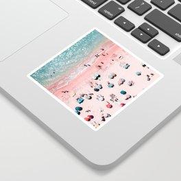 Ocean Print, Beach Print, Wall Decor, Aerial Beach Print, Beach Photography, Bondi Beach Print Sticker