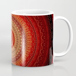 Red Golden Bohemian Mandala Coffee Mug