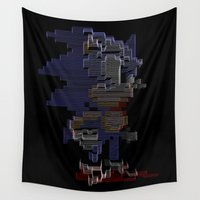 sonic Wall Tapestries featuring Sonic by Anastase Kyriakos