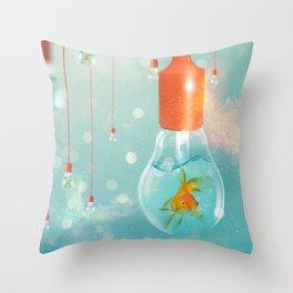 Ideas and Goldfish ... Throw Pillow