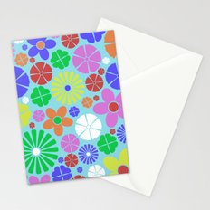 Colourful Colorful Flowers Pattern Stationery Cards