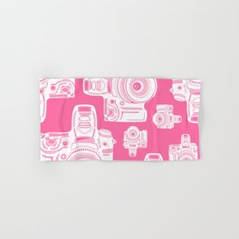 Cute Pink Camera Pattern Hand & Bath Towel