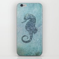 sea horse iPhone & iPod Skins featuring sea & horse by Steffi Louis