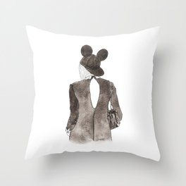 Black in Paris Throw Pillow