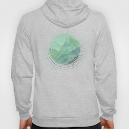 Lines in the mountains - green Hoody