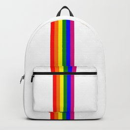 gay flag on white background Backpack