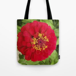 Red, RED Zinnia Tote Bag