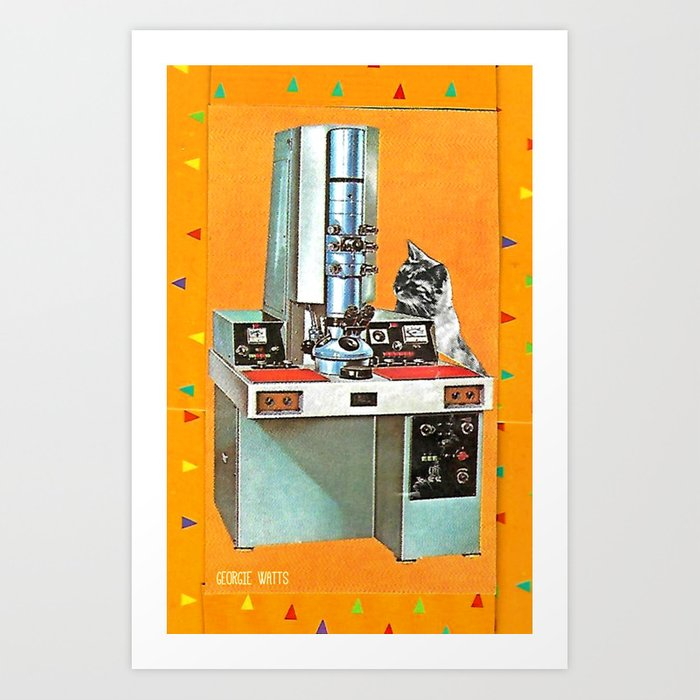 Wotcha Doin' There Then? Handcut Collage Art Print