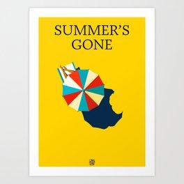 Summer's gone Art Print