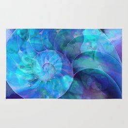 Blue Nautilus Shell  - Seashell Art By Sharon Cummings Rug