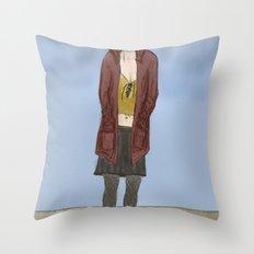 Black Days Throw Pillow