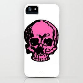 Hot Pink Pirate Skull, Vibrant Skull, Super Smooth Super Sharp 9000px x 11250px PNG iPhone Case