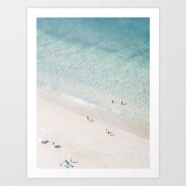 Beach Love 2  (part of a diptych) Art Print