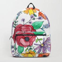 Handful of Watercolor Flowers Backpack