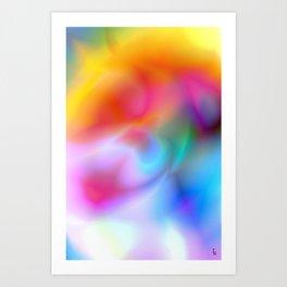 Rainbow Vortex Art Print
