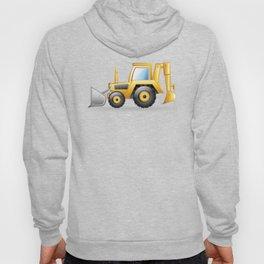 Yellow Excavating Tractor Icon Hoody