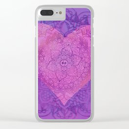 With All My Heart Clear iPhone Case