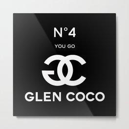 Glen Coco No 4 Black Metal Print