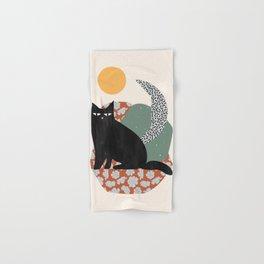 Floral Cat Hand & Bath Towel
