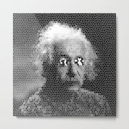 Mosaic Einstein Metal Print
