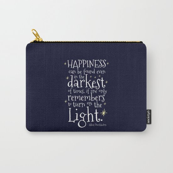 HAPPINESS CAN BE FOUND EVEN IN THE DARKEST OF TIMES - HP3 DUMBLEDORE QUOTE by danielaenriquez