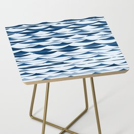 Glitch Waves - Classic Blue Side Table