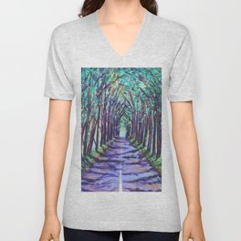 Kauai Tree Tunnel Unisex V-Neck